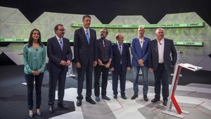 Debate entre los candidatos a las últimas elecciones catalanas, del 27 de septiembre del 2015, en La Sexta.
