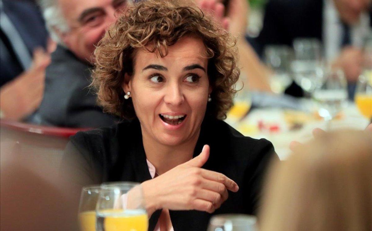 La presidenta de la Comisión de Peticiones delParlamento Europeo, Dolors Montserrat.