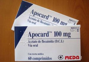 Dos cajas del medicamento Apocard.