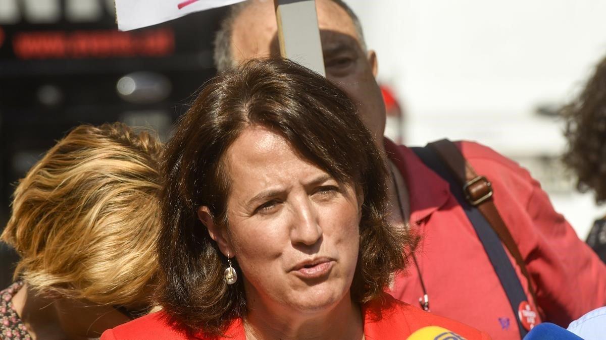 Elisenda Paluzie, presidenta de la ANC, el pasado 1 de octubre.