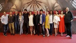 Equipo artístico de la serie La catedral del mar, que grabará Antena 3 en los próximos meses.