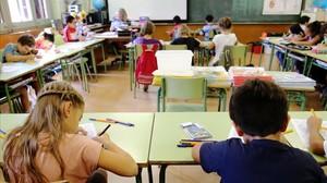 Alumnos en una escuela barcelonesa.