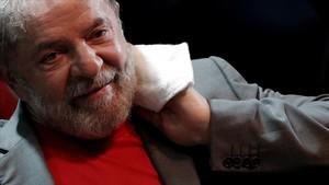 Elexpresidente brasileñoLuiz Inacio Lula da Silva enun acto políticoenRío de Janeiro, el pasado 2 de abril.