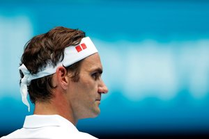 Roger Federer, durante su victoria en segunda ronda de Australia.
