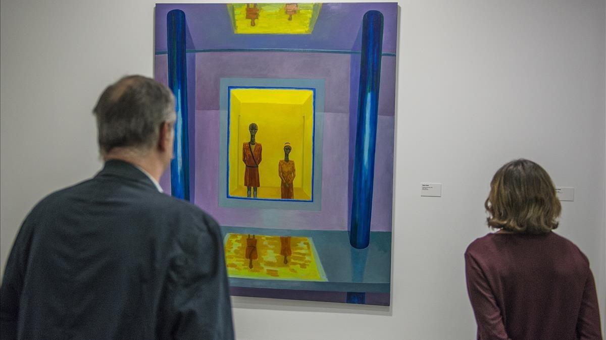 Finestra observatori, obra de este mismo año de Robert Llimós, expuestaen la muestra de la Fundació Suñol sobre el galerista.