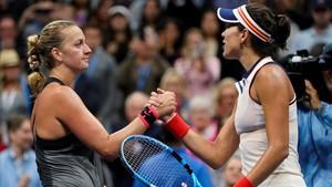 Muguruza, eliminada del Abierto de EEUU tras caer ante Kvitova