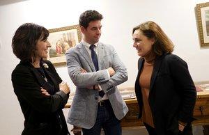 Por la izquierda, Ana Diéguez-Rodríguez, directora del Instituto Moll; Ángel Rodríguez Rebollo, de la Fundación Universitaria Española, y Arantxa Moll Sarasola, responsable del Instituto Moll.