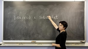 Isabel Redañó, en una sala del Centre Cívic Besós.