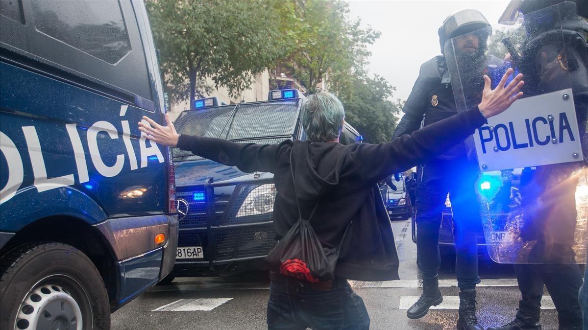 1-O: El plan conjunto de Mossos y policías estatales que nunca se cumplió