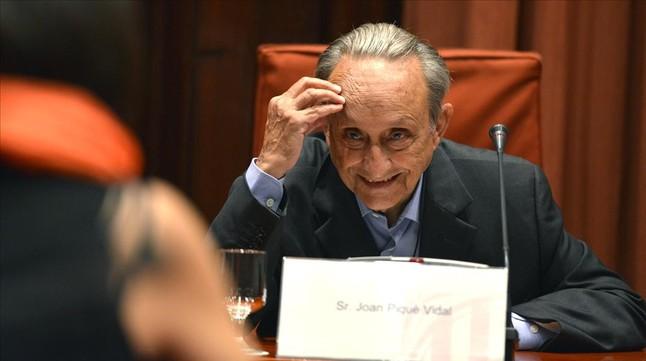 Joan Piqué Vidal, ante la comisión de investigación del 'caso Pujol'.