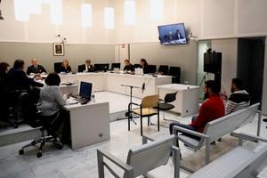 Vista del juicio en la Audiencia Nacional contra dos presuntos yihadistas de origen de marroquí.