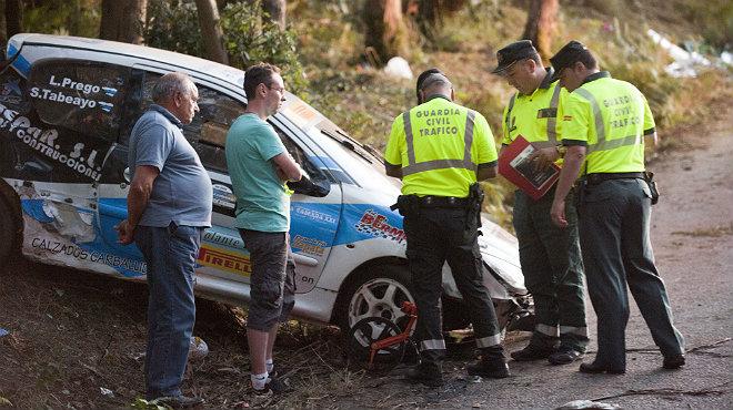 L'accident al Ral·li la Corunya.