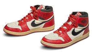 Las Nike Air Jordan 1 diseñadas para Michael Jordan.