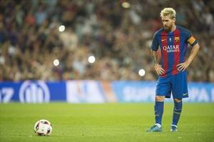 Leo Messi, en un partido del Barça.