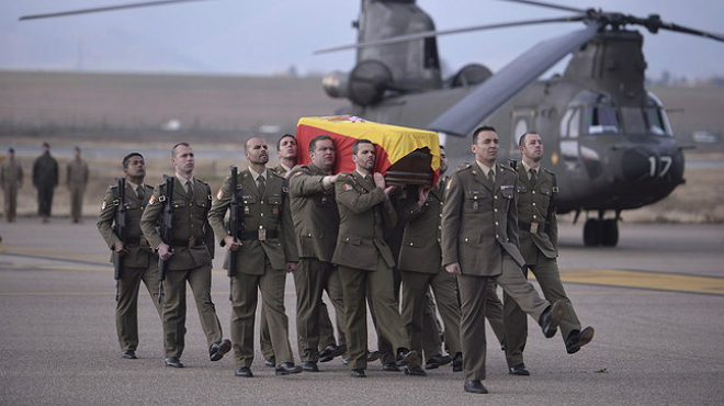 Ya está en España el cuerpo del militar español fallecido en el Líbano.