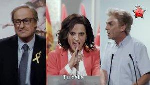 Los clones de Quim Torra, Isabel Díaz Ayuso y Fernando Simón en la nueva parodia de 'Polònia'.