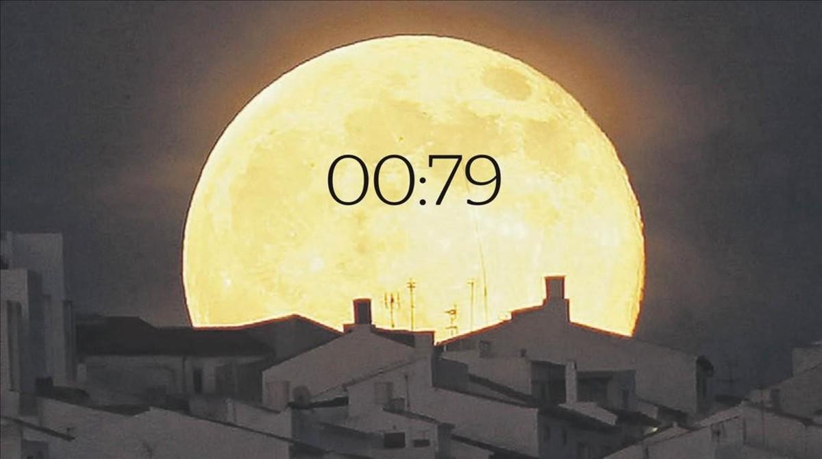 La luna vista por internet