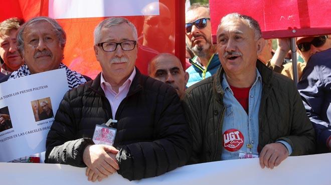 Declaraciones de los principales líderes sindicales.