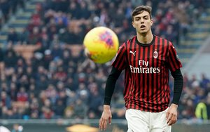 Daniel Maldini, en su debut.