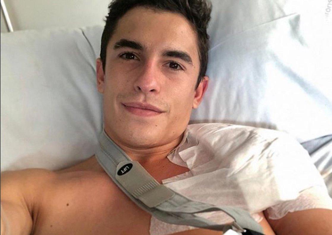 Marc Márquez, tras su operación.