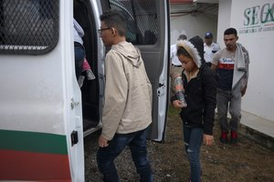 Inmigrantes detenidos por las autoridades mexicanas.