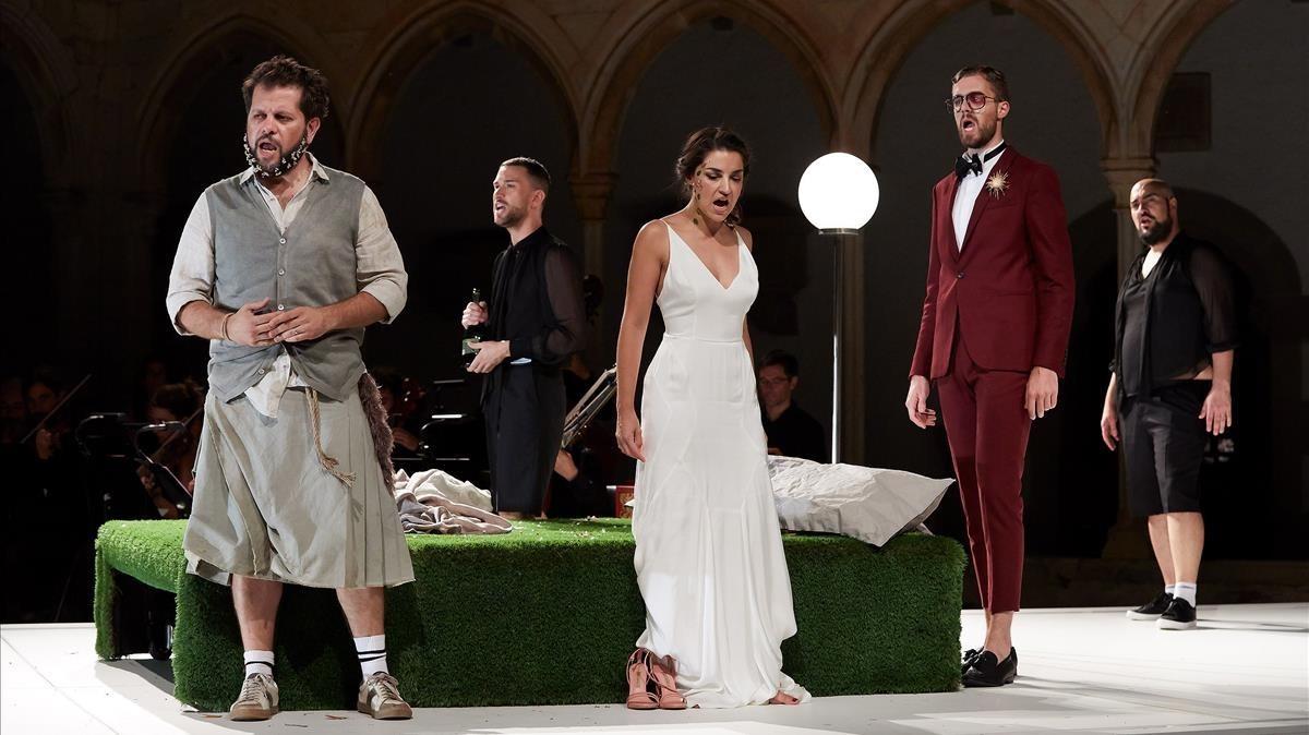 Un momento de la representación de la ópera Acis y Galatea