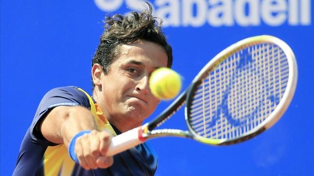 Nicolás Almagro, en acción.
