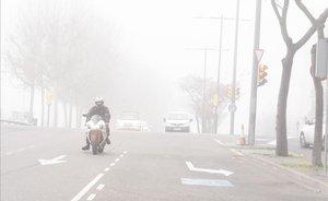 Niebla en Lleida.