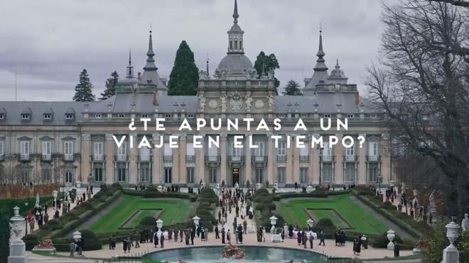 Patrimonio Nacional anuncia su retorno con un vídeo del 'Ministerio del tiempo'.
