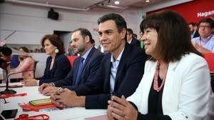 Pedro Sánchez, en el último Comité Federal del PSOE.
