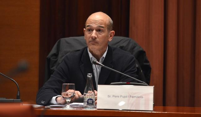 Pere Pujol, durante su declaración en la comisión antifraude en el Parlament, el pasado marzo.