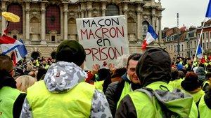 Protesta de los chalecos amarillos en Lille, en el norte de Francia