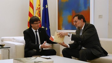 Rajoy, Puigdemont y Urkullu