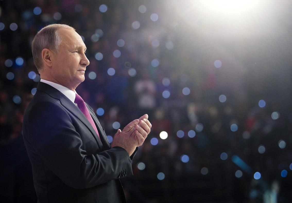 Putin, en un acto oficial este miércoles en Moscú.