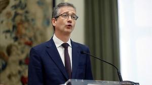 El gobernador del Banco de España, Pablo Hernández de Cos, en una imagen de archivo.