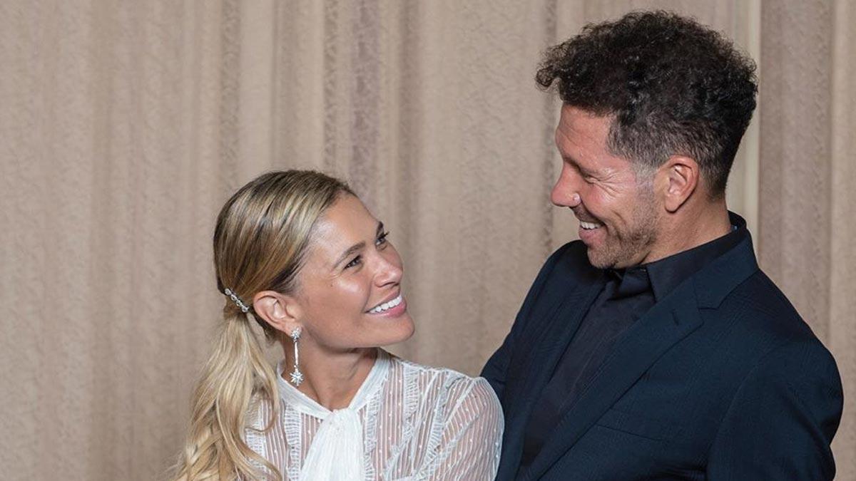 Diego Simeone y Carla Pereyra.