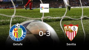 El Sevilla logra una goleada en el estadio del Getafe (0-3)