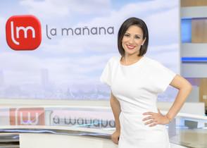 Sílvia Jato el verano pasadoen el plató de 'La Mañana' de TVE-1.