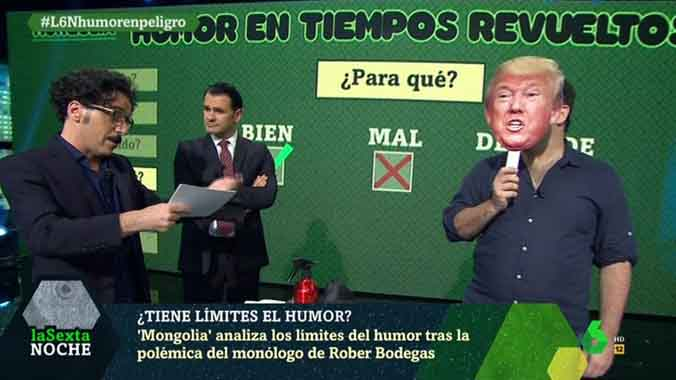"""Rubianes provocaba, Trump denigra"""