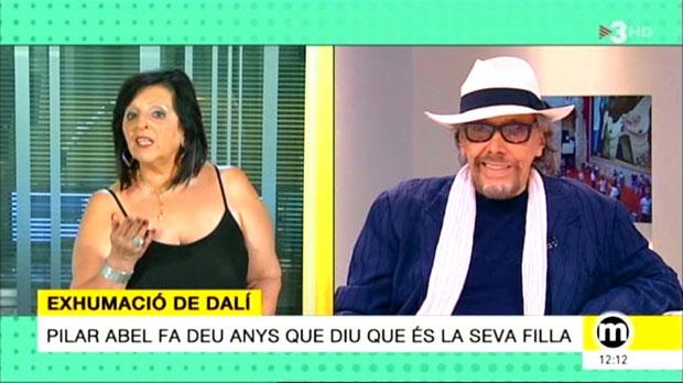 Pilar, presunta hija de Dalí, y el peluquero Llongueras, en 'Els matins' de TV-3.