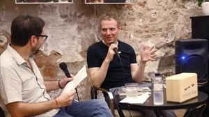 Stuart Murdoch, líder de Belle and Sebastian, en la librería La Calders.