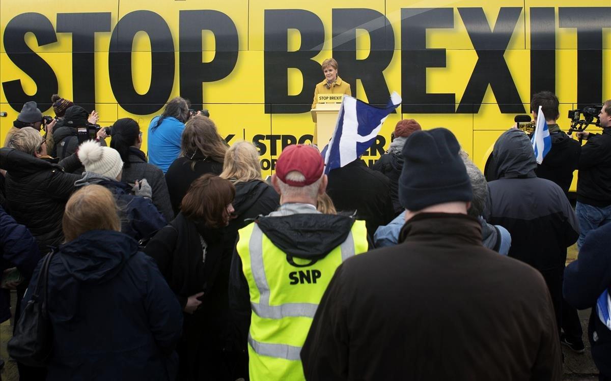 Sturgeon, durante un acto de campaña en South Queensferry.