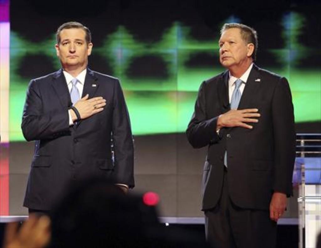 Ted Cruz (izquierda) y John Kasich, el pasado marzo, en un debate en Miami.