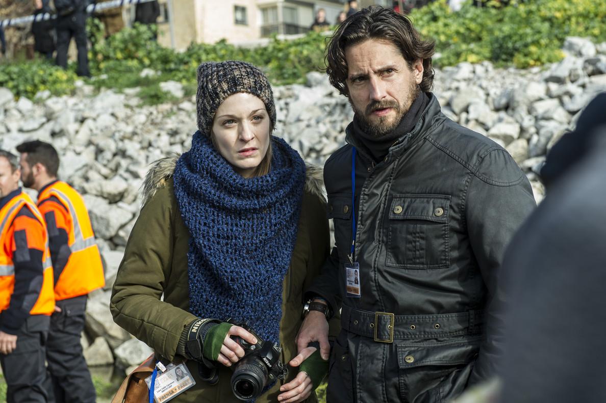 Meritxell Calvo y Juan Diego Botto,en la serie de Antena 3 Pulsaciones.