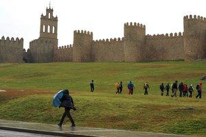 Temporal de lluvia y viento en Ávila por el paso de la borrasca Bárbara