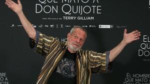Terry Gilliam, en la presentación de 'El hombre que mató a Don Quijote' en Madrid