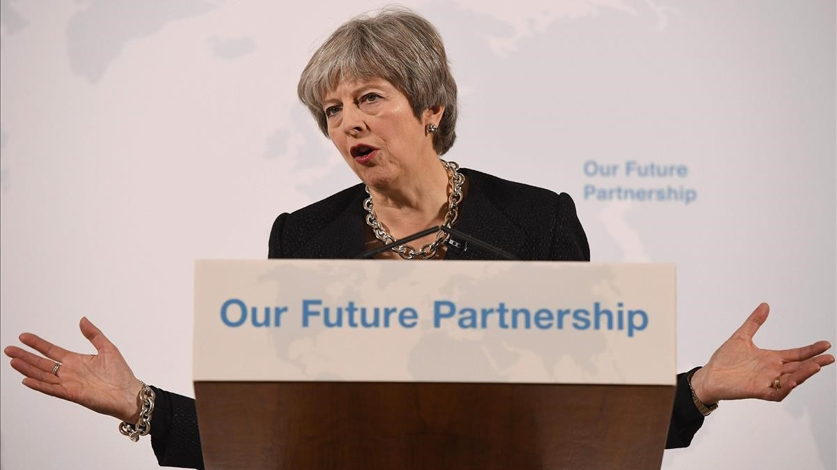Theresa May, en su discurso.