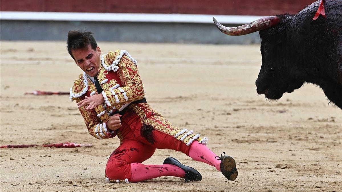 El torero Gonzalo Caballero, hoy, en Las Ventas.