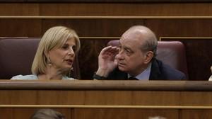 El exministro del Interior, Jorge Fernández Díaz, ha ocupado este miércoles su escaño en el Congreso.