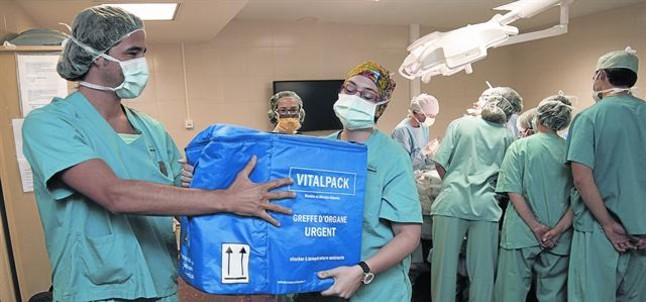 Unidad de trasplantes en el Hospital Clínic de Barcelona.